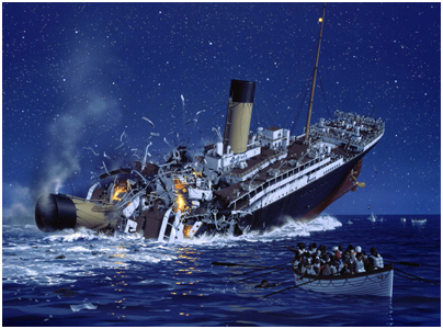 to sink with the ship  Sinking Ship Image