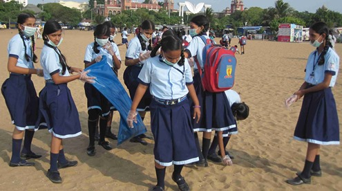 Chennai_Marina_Beach_International_Coastal_Cleanup_Day_2013_7