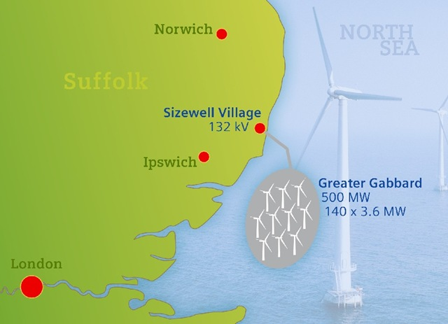 Greater Gabbard Offshore Wind Farm in UK to be Ready by 2011 – Map Uk Wind Farms