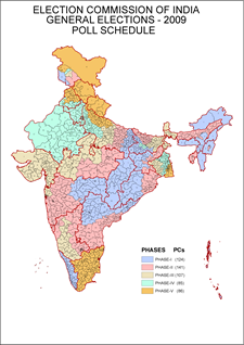 India_General_Elections_2009_Map