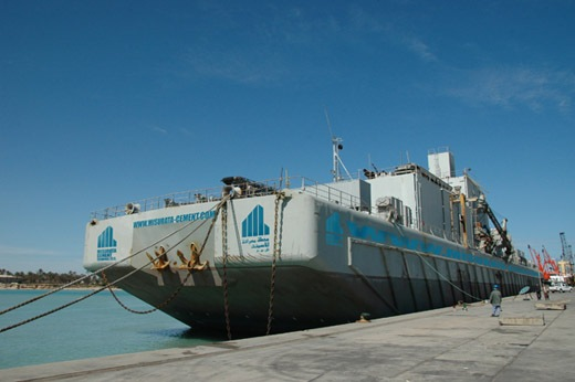 Ship As Floating Cement Terminal