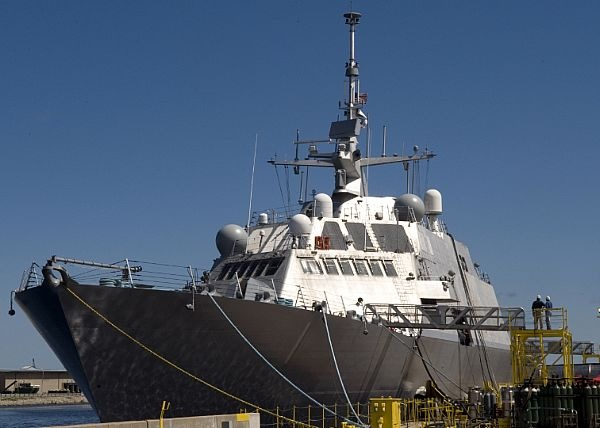 USS Freedom LCS-1 moored at dock